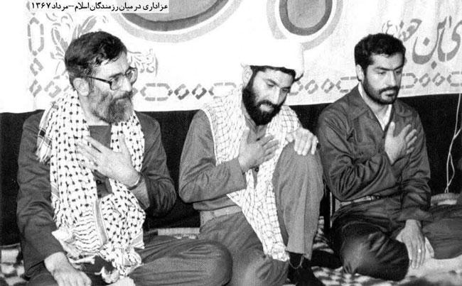 عزاداری رهبر انقلاب در میان رزمندگان +عکس
