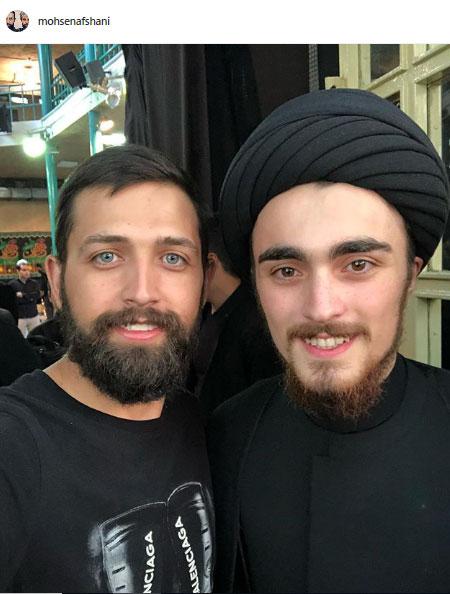 عزاداری محسن افشانی و سید احمد خمینی +عکس
