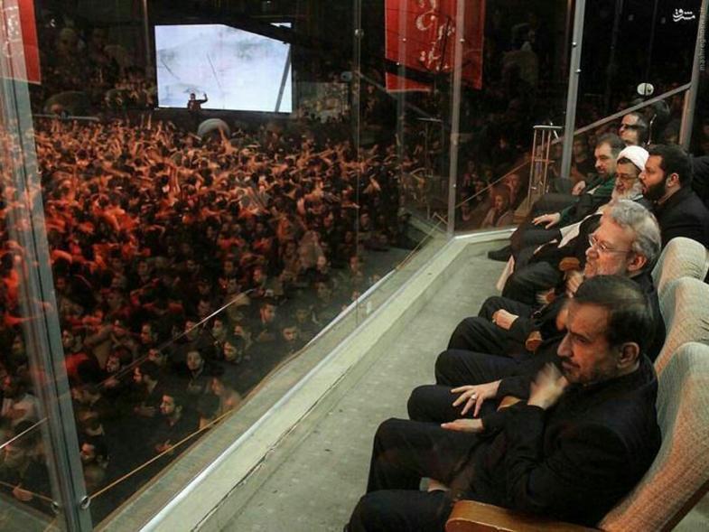 همه افرادی که به جایگاه وی آی پی خادم الرضا رفتند +عکس