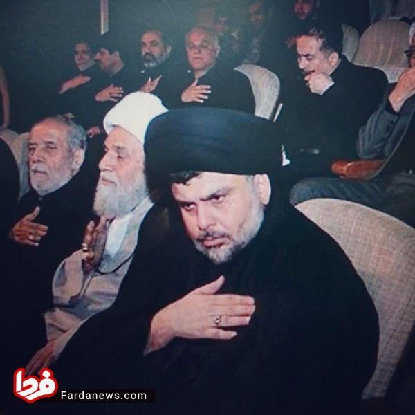 روحانی مشهور عراق در جایگاه وی آی پی خادم الرضا+عکس
