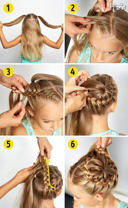 آموزش بستن مدلهای زیبای مو برای دختر بچهها
