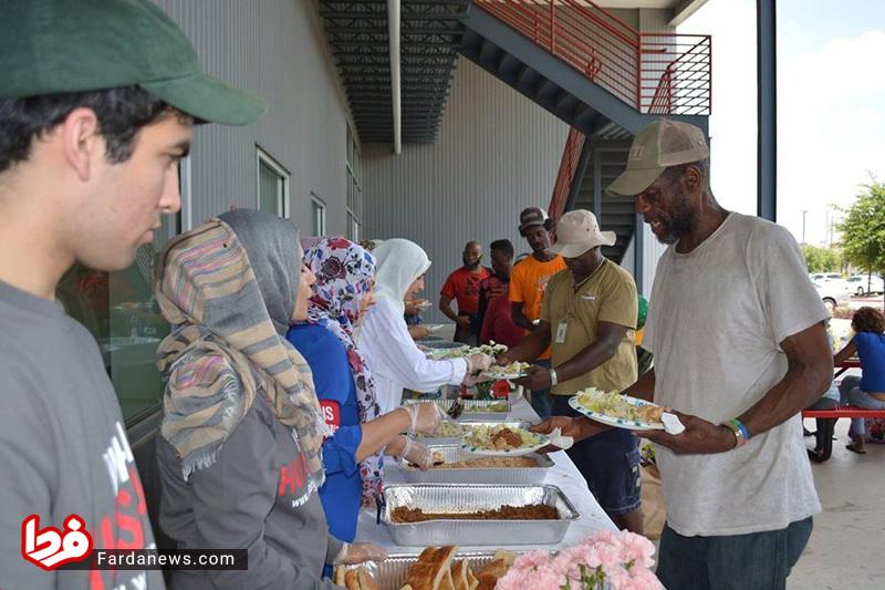 توزیع غذای نذری در تگزاس +عکس