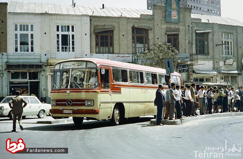 صف اتوبوس شرکت واحد در دوره پهلوی +عکس