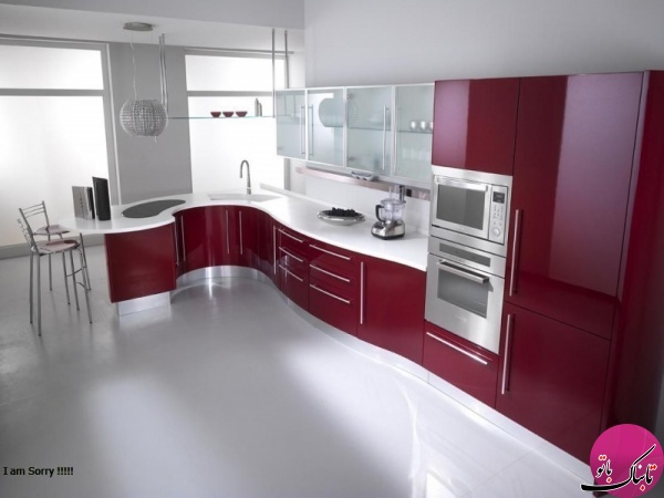 چیدمان L شکل کابینتهای آشپزخانه