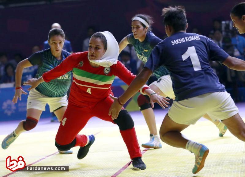 حجاب ورزشکار زن ایرانی در مسابقات کبدی +عکس