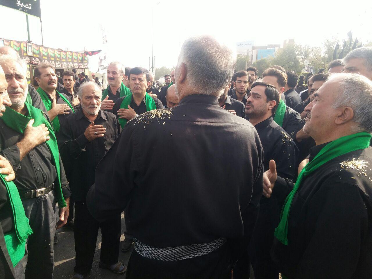 سعید مرتضوی در عزاداری روز عاشورا +عکس