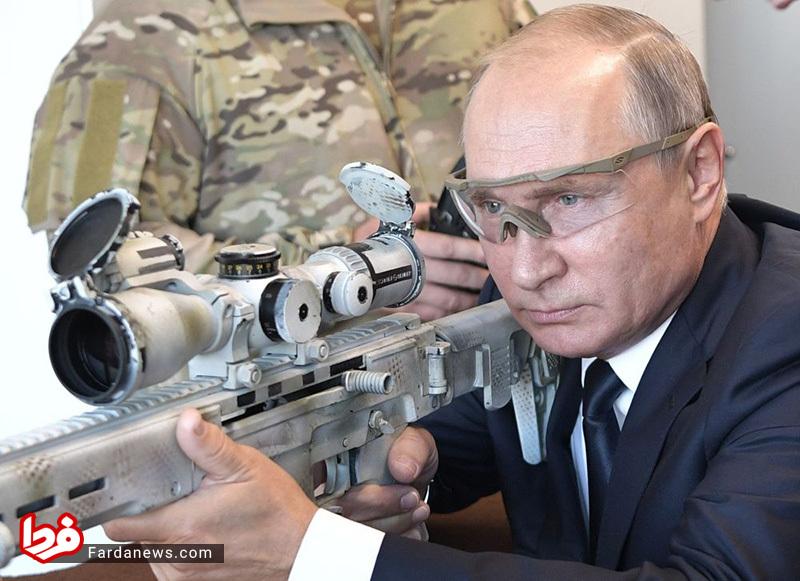 تیراندازی پوتین با تک تیرانداز جدید کلاشینکف +عکس