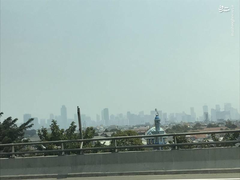 گم شدن برجهای جاکارتا در آلودگی+عکس