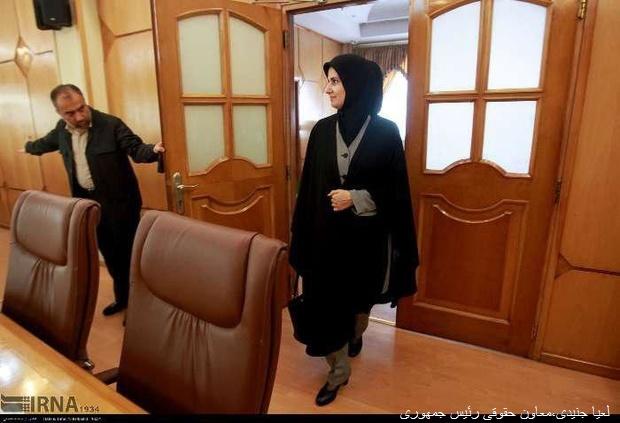 پوشش لعیا جنیدی، معاون حقوقی رئیسجمهوری +عکس