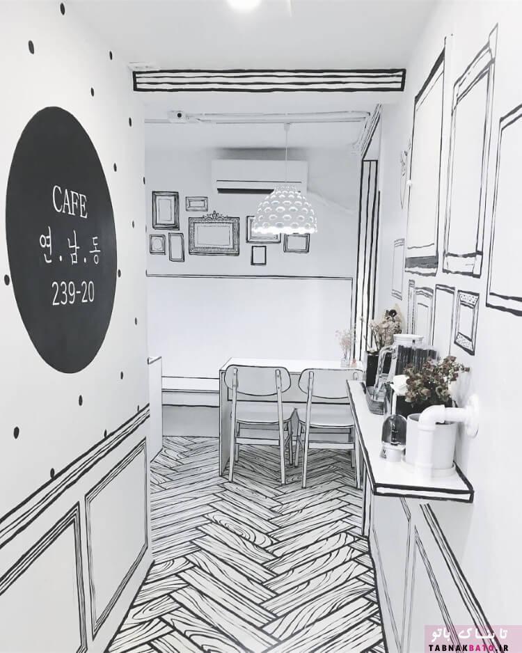 کافه عجیب و خلاقانه در کره جنوبی