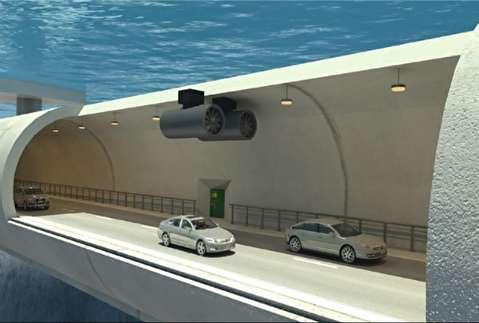 ساخت تونل شناور زیر دریا برای عبور و مرور خودروها