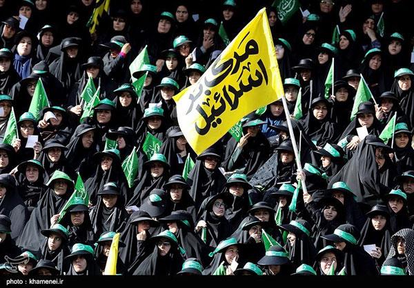 حضور خانمهای بسیجی در استادیوم آزادی+عکس
