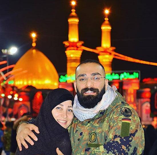 حمید صفت و مادرش در کربلا +عکس