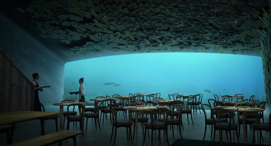 بزرگترین رستوران زیر آبی جهان به زودی گشایش خواهد یافت