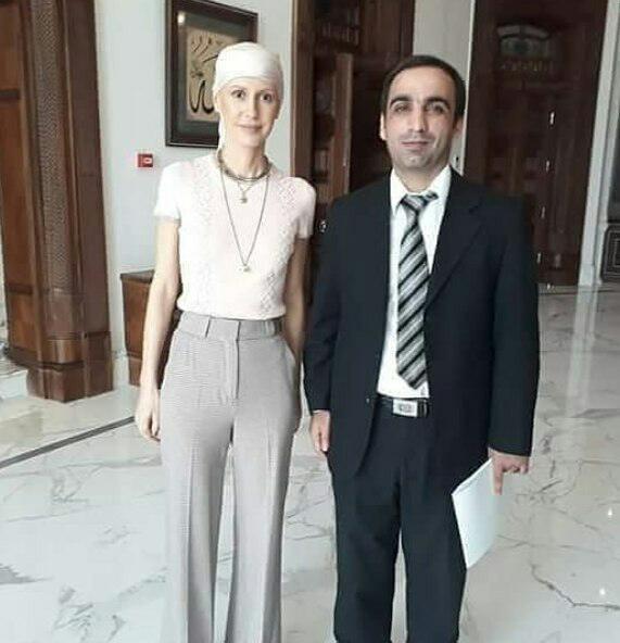 همسر بشار اسد پس از شیمی درمانی+عکس