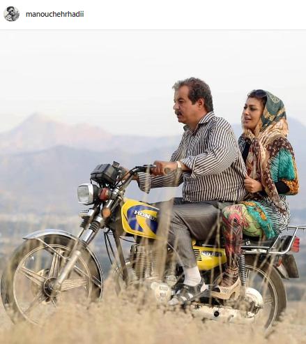 موتورسواری «یکتا ناصر» و «سعید آقاخانی»+عکس