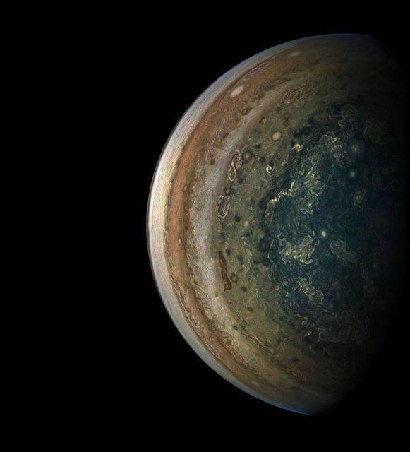 عکس روز ناسا از نیمکره جنوبی مشتری