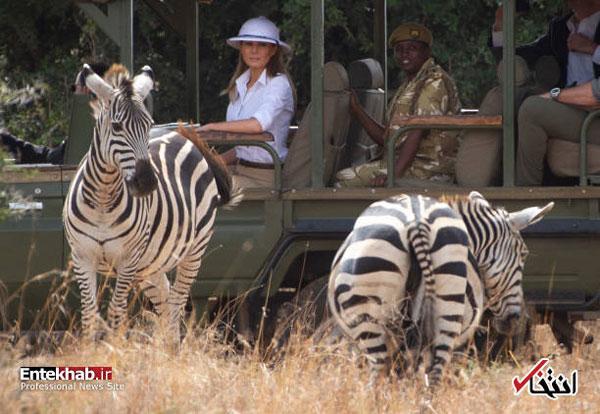 کلاه همسر ترامپ در کنیا جنجالی شد+عکس