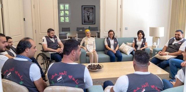 تصاویر جدید از همسر بشار اسد پس از شیمیدرمانی