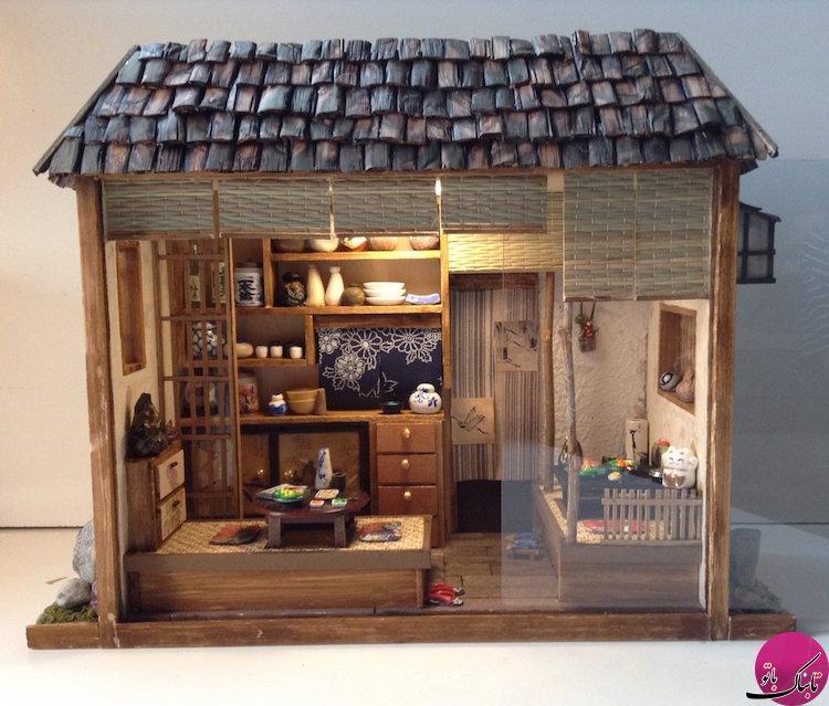 خانههای ژاپنی مینیاتوری، ترکیب هنر و خلاقیت