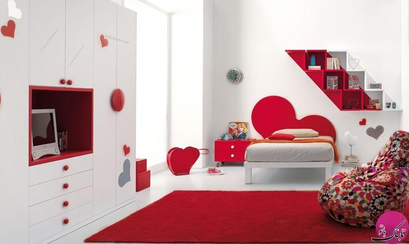 چیدمانی شاد و پرانرژی با رنگهای قرمز و سفید