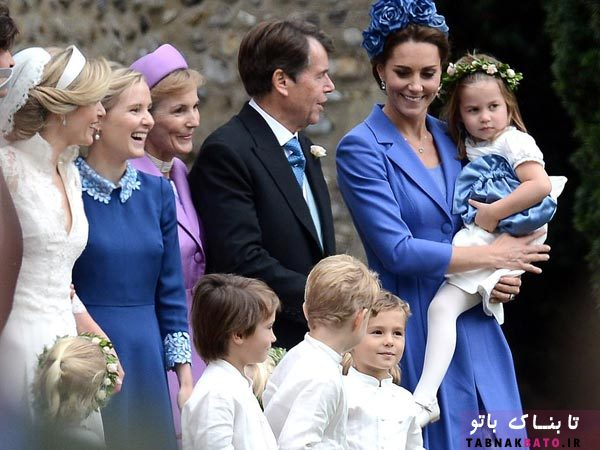 کیت میدلتون و فرزندانش در جشن ازدواج دوستِ دوران کودکی
