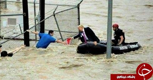 انتشار عکسی جنجالآمیز از امدادرسانی ترامپ +تصاویر