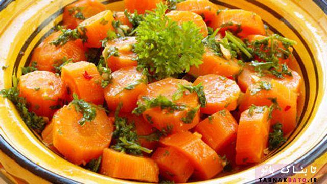 سالاد هویج تند به سبک مغربیها