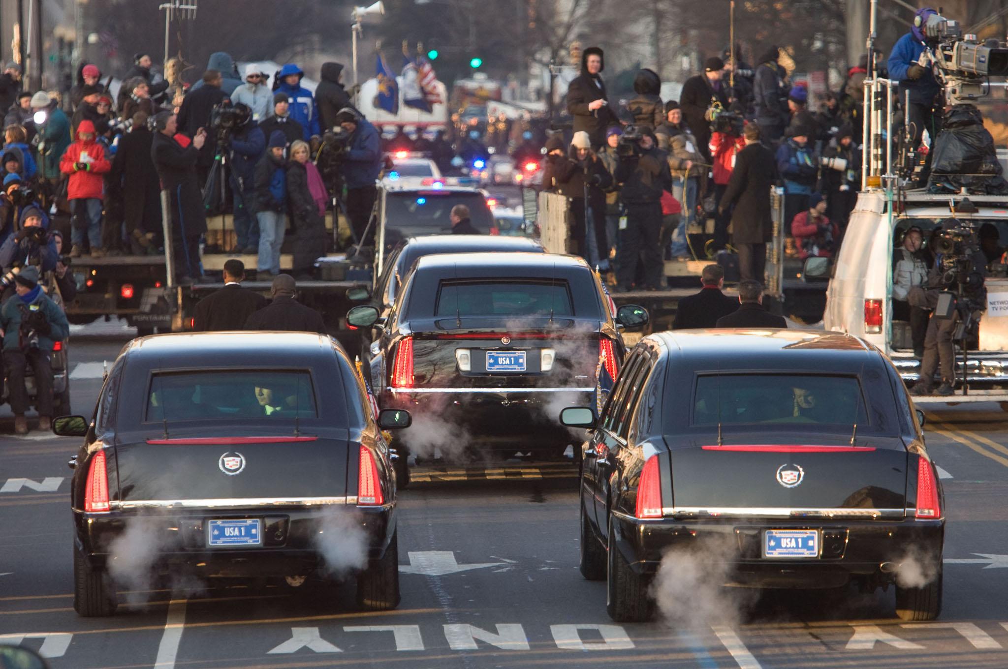 تصاویری از خودروی جدید ترامپ در سفر به نیویورک