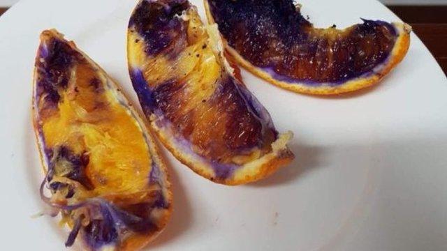 معمای تغییر رنگ پرتقالهای تازه قاچشده+عکس