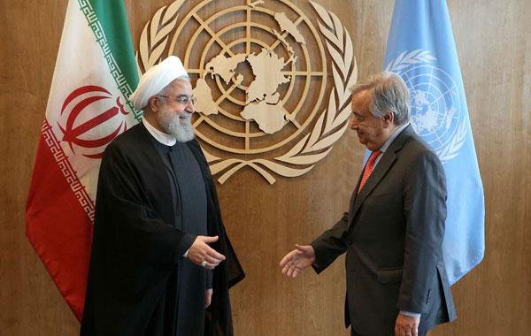 دیدار روحانی با دبیر کل سازمان ملل متحد+عکس
