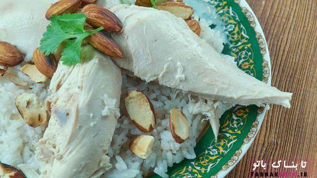 پخت برنج با مرغ به روش لبنانی