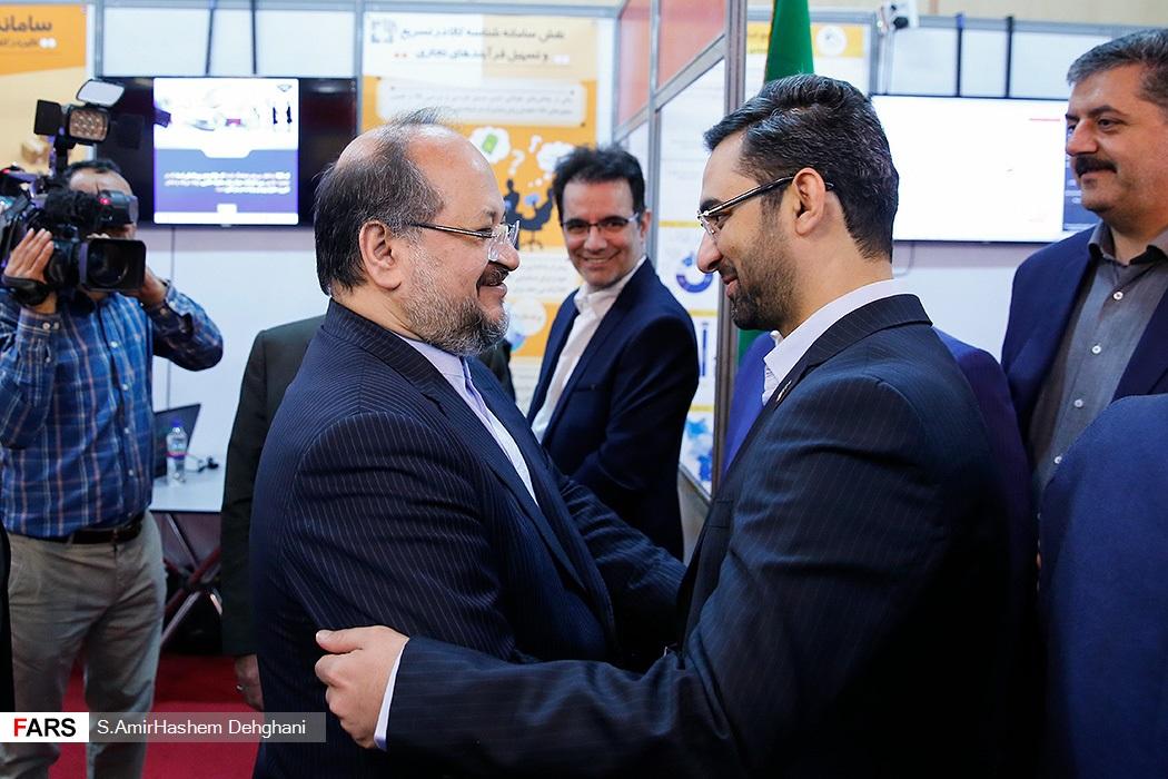 خوش و بش دو وزیر جنجالی دولت+عکس