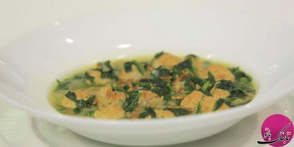 طرز تهیهی سوپ اسفناج و بلغور