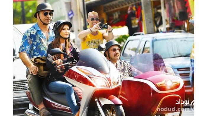 فرخ نژاد ترک موتور بانوی تایلندی در پاتایا +عکس