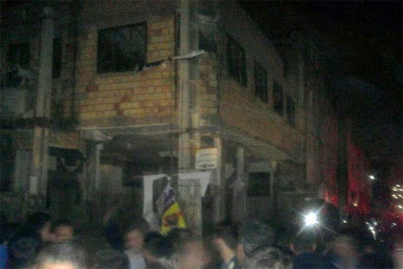 انفجار یک حسینیه در شهر صالحیه +تصاویر