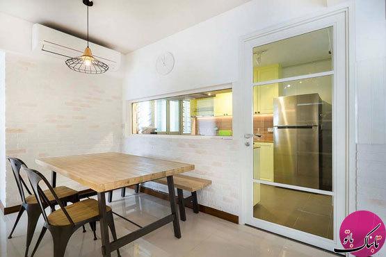 متمایز کردن آشپزخانه از سایر بخشها با جداکنندههای شیشهای