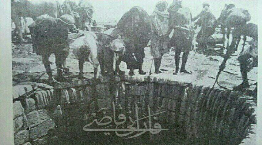 تصویر بی نظیر چاه زمزم مربوط به ۱۰۰سال پیش
