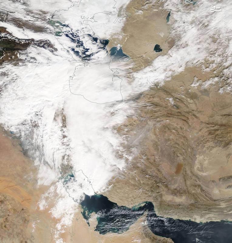 تصویر ماهوارهای ناسا از آبوهوای امروز ایران