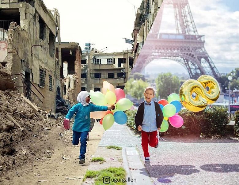 ترکیب خاورمیانه بحرانزده و عکسهای شهروندان کشورهای غربی