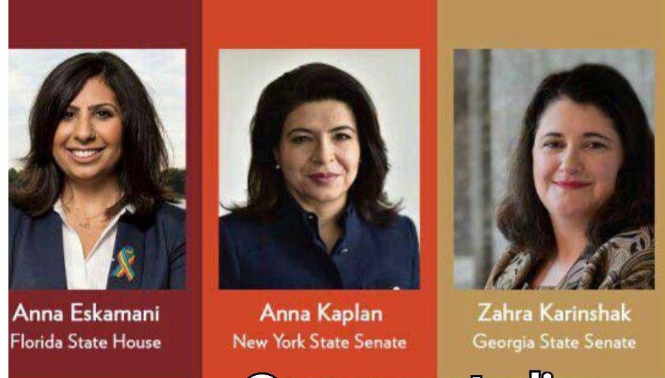 ۳ زن ایرانی راه یافته به مجالس ایالتی آمریکا +عکس