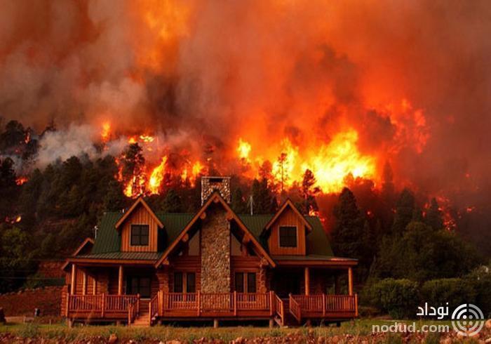 ویلاهای لوکس سلبریتیها در آتش سوختند +تصاویر