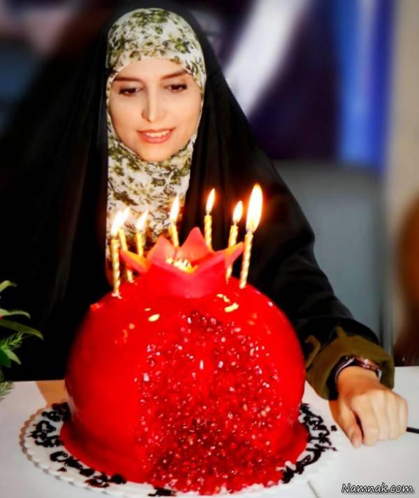 تولد مژده لواسانی با کیکی متفاوت +عکس