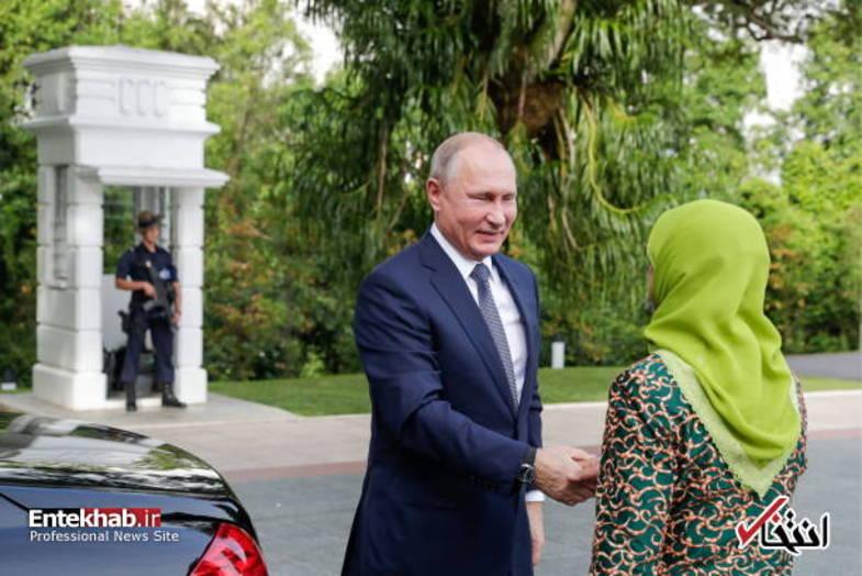 استقبال خانم رئیس جمهور از ولادیمیر پوتین +تصاویر