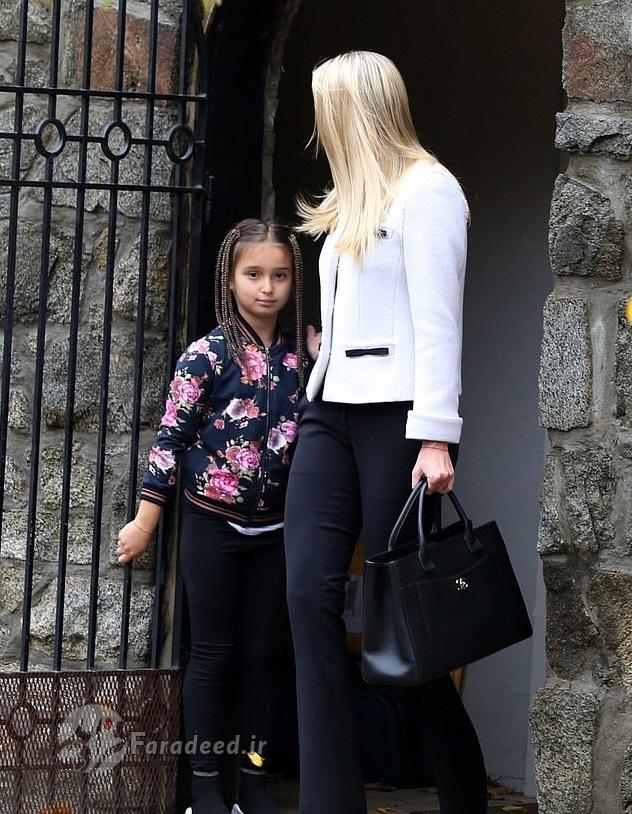 ایوانکا ترامپ و فرزندانش با لباسهای لاکچری +تصاویر