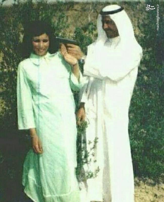 شوخی صدام با همسرش جلوی دوربین+عکس