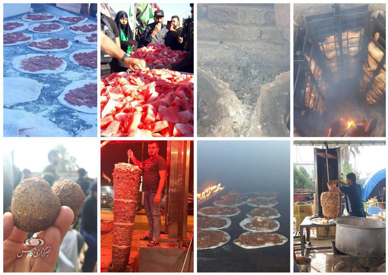 سنگ تمام موکبهای عراقی برای زوار اربعین +عکس