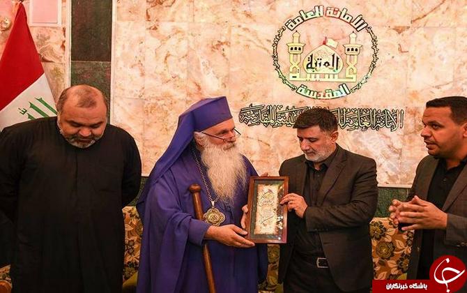 حضور کشیش مسیحی در راهپیمایی اربعین +تصاویر