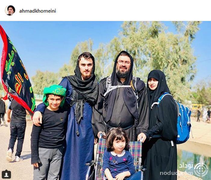 سید احمد خمینی در پیاده روی اربعین +عکس