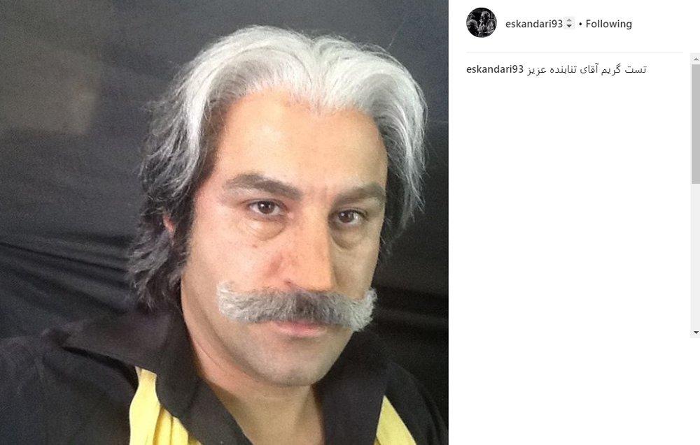سیبیل عجیب محسن تنابنده در یک تست گریم +عکس